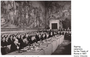 Treaty of Rome Signed in 1957